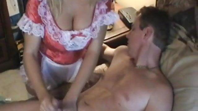 Preview 1 of Amber Lynn Bach - Hot Maid gives Handjob