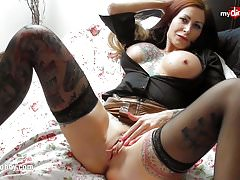 My Dirty Hobby - Busty tattoed MILF enjoys a fat cock