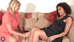 Busty mother seduce lovely young daughter