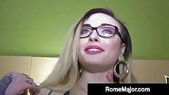 Black Bull Rome Major Cums On Inked Chloe Cartier's Glasses!