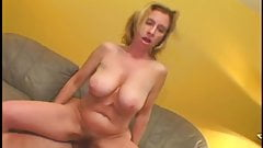 Hairy mature gets fat dick