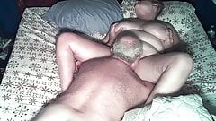 Mature couple on bed