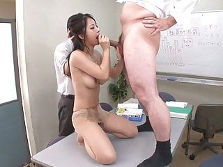 Preview 6 of Busty office lady gets a gangbang from her peers