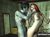 3D Babe Has Rough Sex with a Zombie