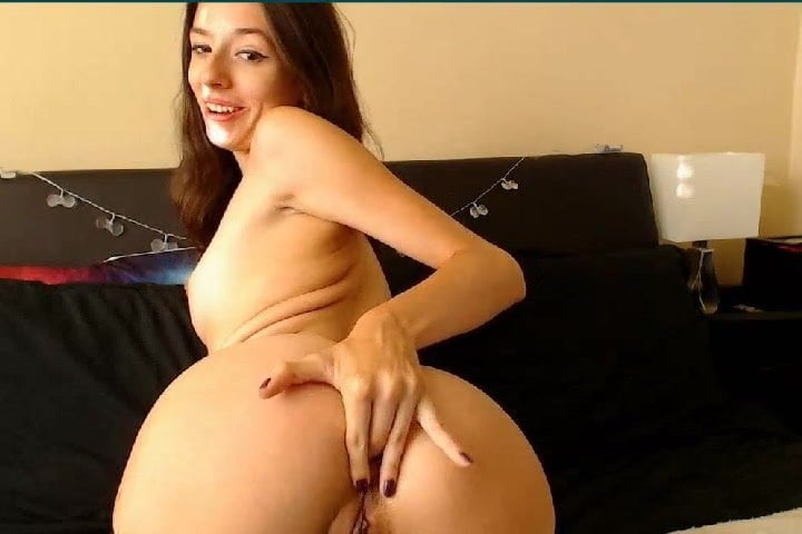 Young and Tall Brunette Teen Fingering her Booty Asshole