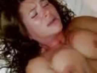 Wife catches husband with porn tube