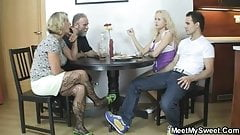 Her pussy gets licked and fucked by his parents