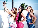 Hot lesbian babes - Ally Breelsen, Anna Rose,Cristal Caitlin