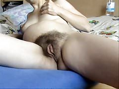 My hairy pregnant wife masturbates to orgasm