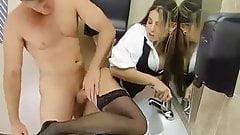 office slut fuck in the toilet