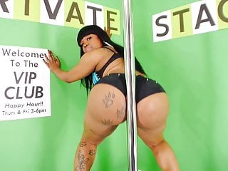 Preview 2 of Big Booty Diamond Monroe Stripping and Twerking