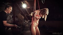 Hot blonde in submission gets spanked and punished slut
