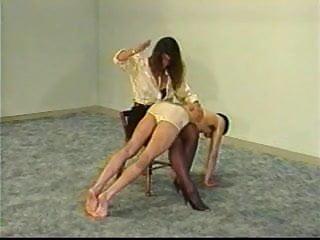 Girl watches public masturbation