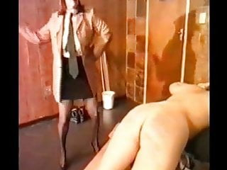 Woman Caned and then Fucked with a Strap on: Free Porn f4