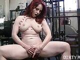 Redhead Andrea Masturbates in the Gym