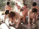 Best Japanese orgy party withs lots of sluts outdoors
