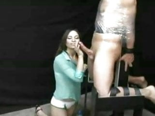 Preview 1 of Sadistic Girl Gives Cock Torture Handjob