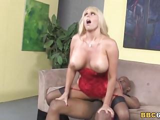 Preview 6 of Busty MILF Karen Fisher Fucks Black Dick