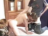 Brunette from Homemade College Russian Orgy vid 3