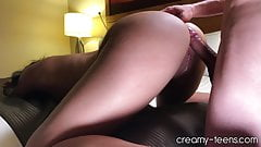 Teenager loves doggy and creampies