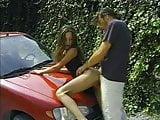 Vintage Panty Fuck on Car Hood