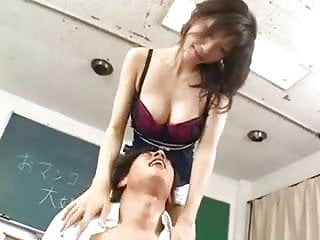 Preview 1 of Pretty busty Japanese teacher's hot hairy cunt
