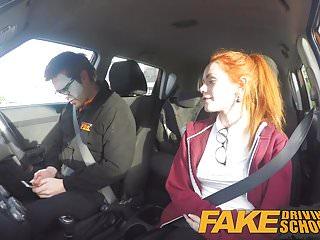 Preview 3 of Fake Driving School Redhead Ella Hughes eats instructors cum