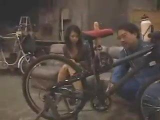 Preview 1 of Japanese dildo-bike in public
