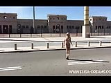 Flashing in public day in barcelona