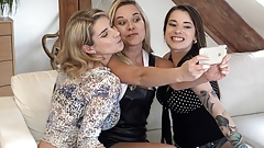 Katerina Hartlova, Nikky Dream and Brandy Lee together