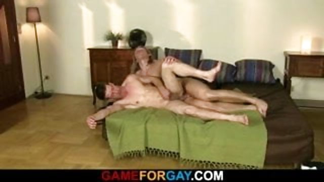 Preview 1 of Strong straight man seduced gay sex
