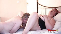 BBW has Squirting Orgasm Before Sex With Camera man