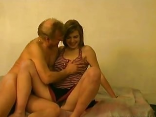 18y Wife In Bed with 4 Much Older Men!