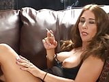 Hot Babe Smoking and Playing Solo