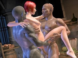 Preview 5 of 3D animated Monster Gangbang double feature