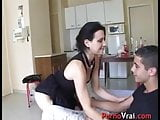 Accidental creampie with a stranger!! French amateur