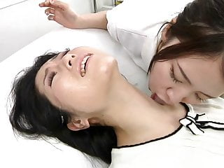 Preview 2 of Japanese lesbian erotic spitting massage clinic Subtitled