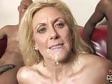 Grandmother Dana Devine fucked by 2 black cocks at once