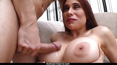 MomsWithBoys - Busty Wife Sheila Marie Hardcore Couch Sex