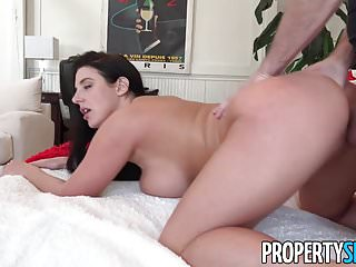Preview 5 of PropertySex - Busty tenant addicted to sex fucks landlord