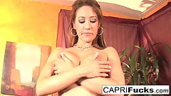 Capri play with her amazing wet pussy and big tits