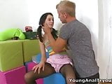 Young Anal Tryouts - Olga is a sexy brunette had sex in the