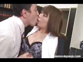 Preview 1 of Japanese office Lady Fucked Asian Cuckold juc361