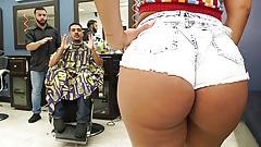 Booty Latina Wife Fucks The Barber