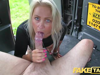Preview 5 of Fake Taxi Busty sexy blondes holes stretched and fucked