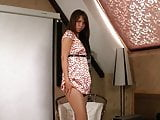 Teen In Pantyhose Takes Off Dress And Shows All