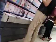 cum on girl in bookstore 1