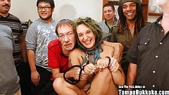 Pregnant ANAL Gangbang Slut With Tattoos Bukkake Party!
