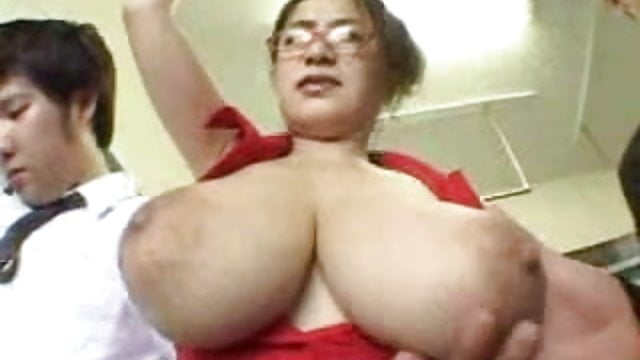 Preview 1 of Anna Ohura's Shapely Natural Breasts Ravished On a Train