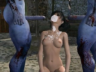 Preview 3 of 3D animated Monster Gangbang double feature